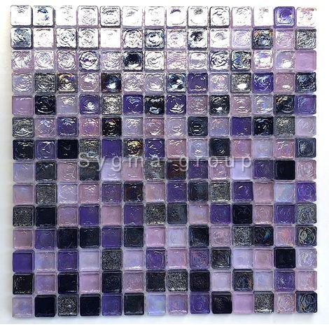 Malla mosaico de vidrio para pared y suelo Arezo indigo