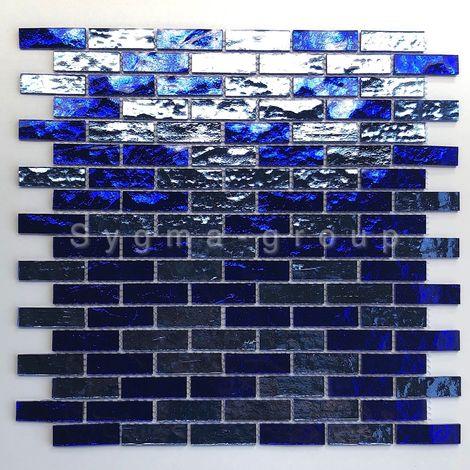 """main image of """"Malla mosaico para pared de baño y cocina modelo LUMINOSA BLEU"""""""