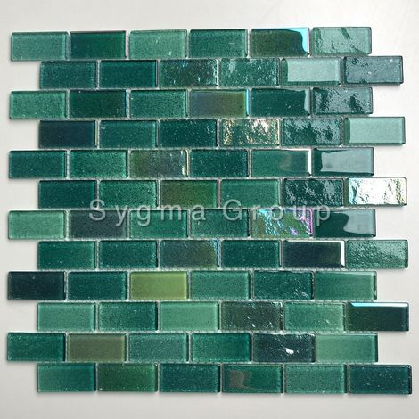 Malla mosaicos azulejos para la cocina y el baño Kalindra Vert