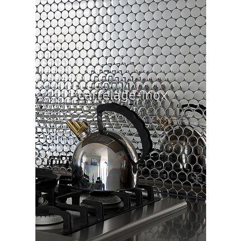 Malla mosaicos de acero inoxidable con efecto de espejo para las paredes de la cocina y el baño SORA