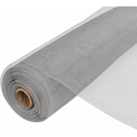Malla mosquitera de aluminio plateada 100x1000 cm