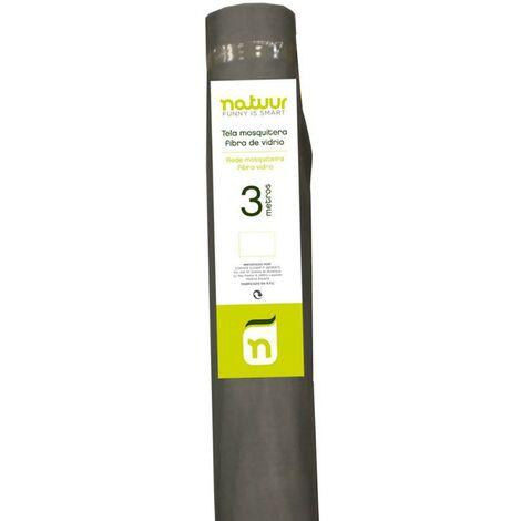 Malla mosquitera rollo 1,5x3mt fibra vidrio natuur nt62531