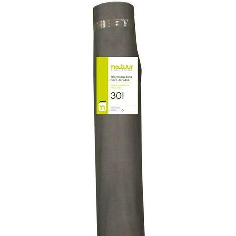 Malla mosquitera rollo 1x30mt fibra vidrio natuur nt62527 110914