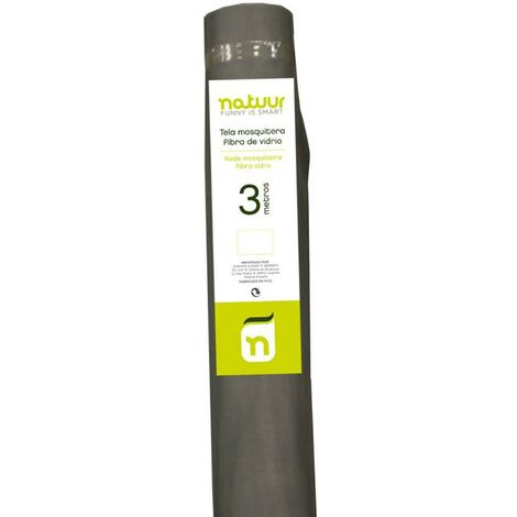 Malla mosquitera rollo 1x3mt fibra vidrio natuur nt62530 110915