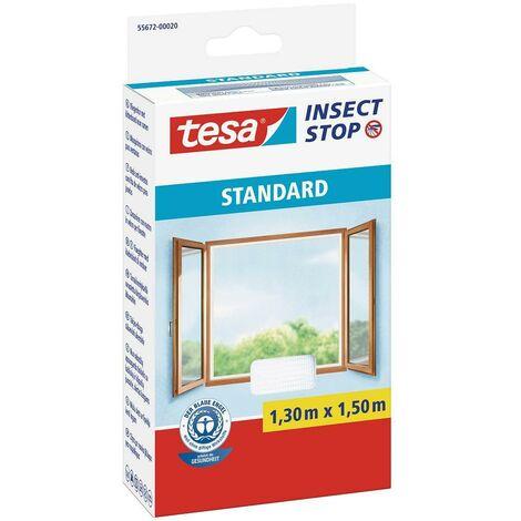 Malla mosquitera ventanas Standard blanca 1,3m x 1,5m Tesa