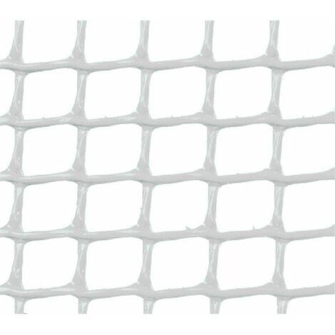 MALLA PLASTICA CUADRADA 0,5x0,5 cm BLANCA