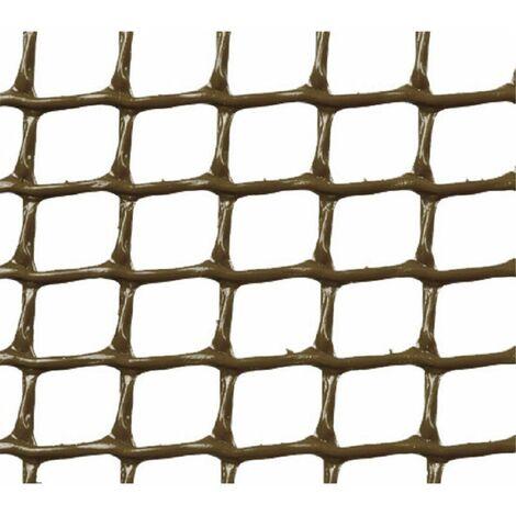 MALLA PLASTICA CUADRADA 0,5x0,5 cm MARRON