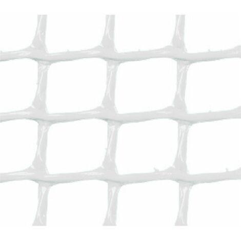 MALLA PLASTICA CUADRADA 1x1 cm BLANCA