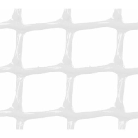 MALLA PLASTICA CUADRADA 2x2 cm BLANCA