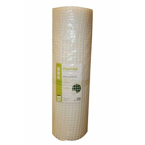 Malla Proteccion Cuadrada Luz Malla 18X20Mm 1X25Mt Plastico Blanco Natuur Nt121619