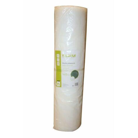 Malla Proteccion Cuadrada Luz Malla 4,5X4,5Mm 1X25Mt Plastico Blanco Natuur Nt121615