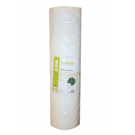 Malla Proteccion Cuadrada Luz Malla 9X9Mm 1X25Mt Plastico Blanco Natuur Nt121617