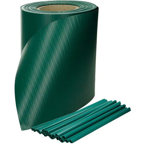"main image of ""Malla protectora PVC 35m rollo ocultación cerca resistente intemperie verde"""
