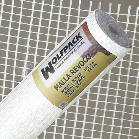 Malla revoco blanca rollo 50 mt. x 1metro / 4 x 4,5 mm.