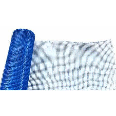 Malla revoco mortero. Color azul. 10x10 1x50 mts 90 gr/m2