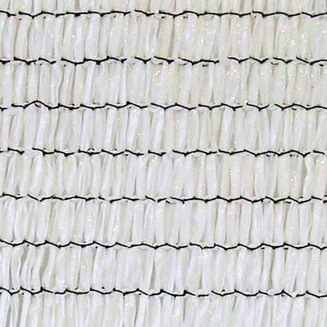 Malla Sombreadora SunNet Blanco 4m de alto x 5m de ancho - Blanco