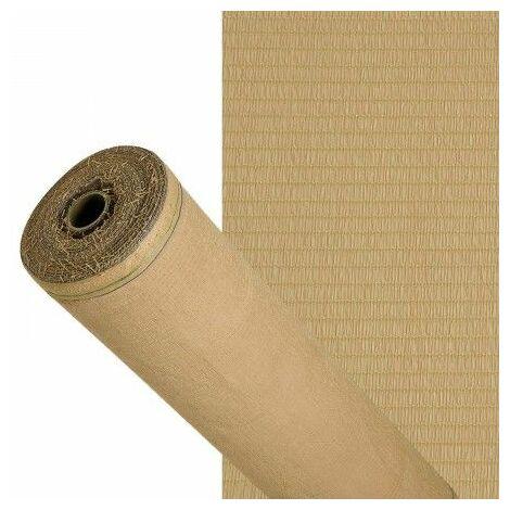 Malla sombreo 90% beige 2,0 metros rollo 50 metros