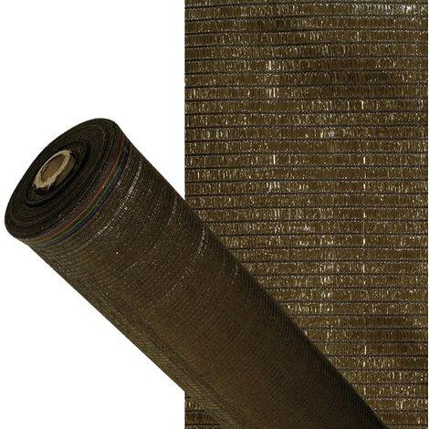 Malla sombreo 90% marron 1,5 metros rollo 50 metros