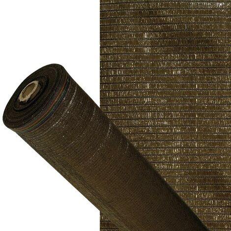 Malla sombreo 90% marron 2,0 metros rollo 50 metros