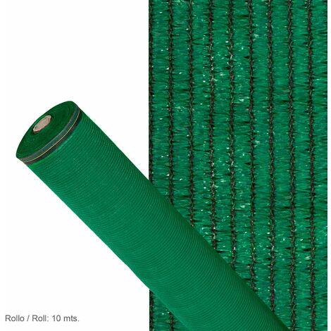 Malla Sombreo 90%, Rollo 1 x 10 metros, Reduce Radiación, Protección Jardín y Terraza, Regula Temperatura, Color Verde Claro
