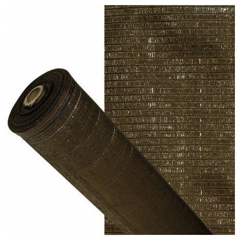 """main image of """"Malla sombreo 90%, rollo 1,5 x 50 metros, reduce radiación, protección jardín y terraza, regula temperatura, color marrón"""""""