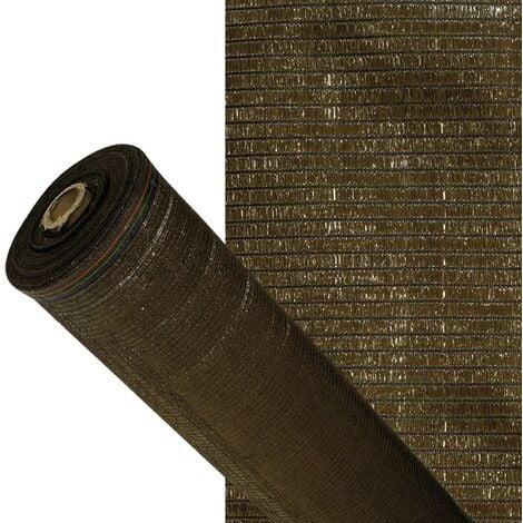 """main image of """"Malla sombreo 90%, rollo 2 x 50 metros, reduce radiación, protección jardín y terraza, regula temperatura, color marrón"""""""
