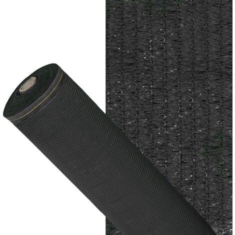 Malla sombreo 90%, rollo 2 x 50 metros, reduce radiación, protección jardín y terraza, regula temperatura, color negro