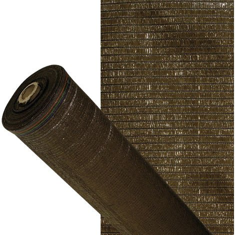 Malla Sombreo 90%, Rollo 4 x 50 metros, Reduce Radiación, Protección Jardín y Terraza, Regula Temperatura, Color Marrón
