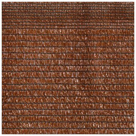 Malla sombreo marrón 1.5 m ancho x 10 m largo(15m2)