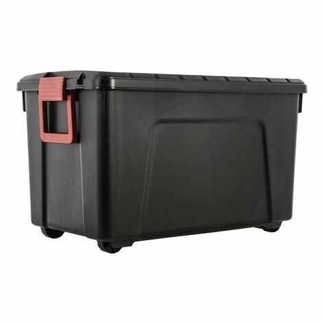 Malle de rangement - 110 litres - Scellable - 75 x 44,5 x H44,5 cm - Noir