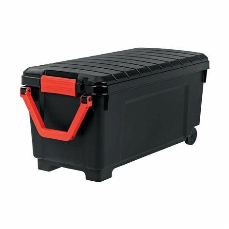 Malle de rangement - 170 litres - Scellable - 103,5 x 49,5 x H50 cm - Noir