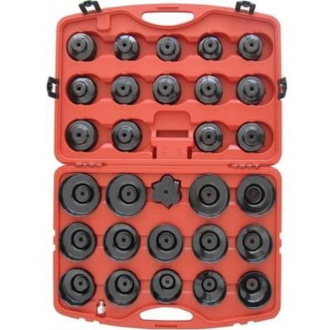 Mallette 28 cloches filtre huile + 1 adaptateur 3 branches universel
