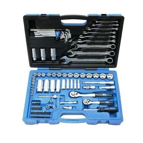 Mallette 92 outils douilles / clés / embouts américains