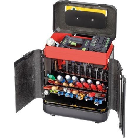 Mallette à outils à roulettes EVOLUTION, Dimensions intérieures : 450 x 260 x 550 mm, Volume environ 65 l, Poids 9730 g