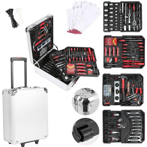 Mallette à Outils Complète Boîte à Outils Complète 725 Pièces Outil De Réparation Valise Outils Complète pour Réparations Quotidiennes