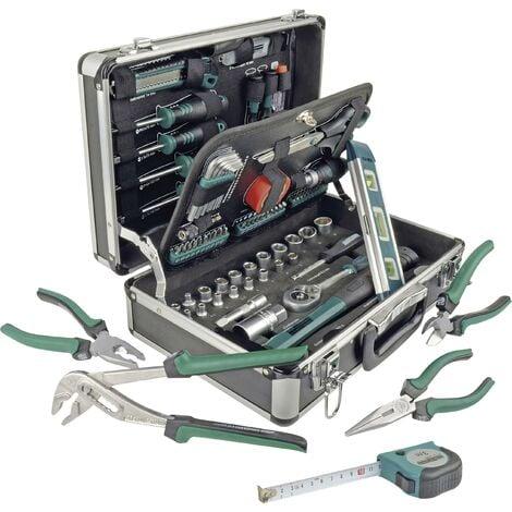 Mallette à outils en alu, 90 pièces S419211