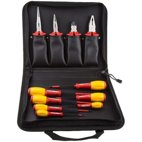 Mallette à outils pour Electriciens, Jeu de 11 pièces