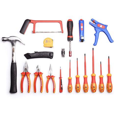 Mallette à outils pour Electriciens, Jeu de 28 pièces