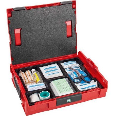 Mallette à outils Premiers secours, Dimensions : 442 x 357 x 117 mm, Modèle 102, Poids 3200 g