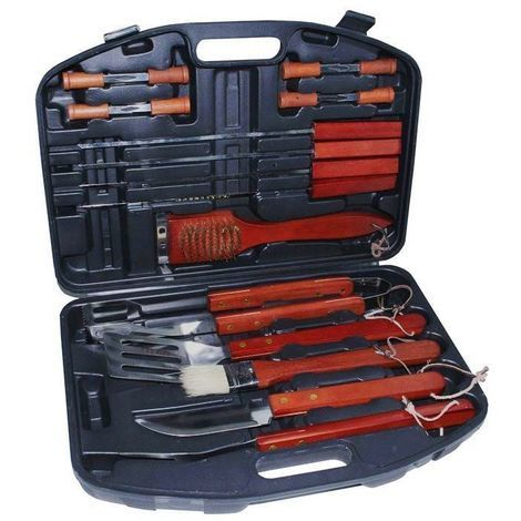 vente chaude réel sélectionner pour officiel bon marché Mallette barbecue Invicta 18 accessoires - P723180