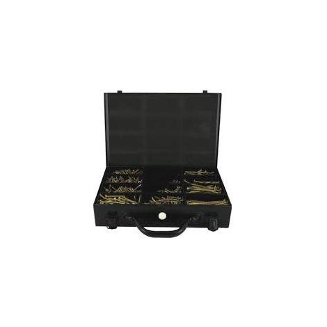 Mallette de 1350 Vis ROCKET VYNEX Tête Fraisée Etoile ABI + 3 Embouts inclus - 3514000931013