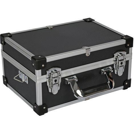 Mallette de rangement en aluminium 32x23x15,5cm boîte à outils Alubox
