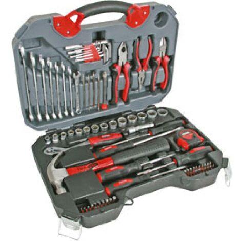 Mallette outils chrome vanadium 78 pieces PEREL