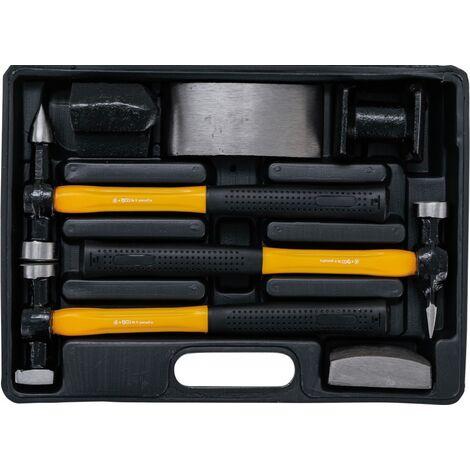 Mallette outils de carrossier marteau et tas 7 pièces