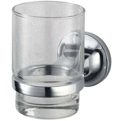 Malmo Glass Tumbler & Holder - Chrome