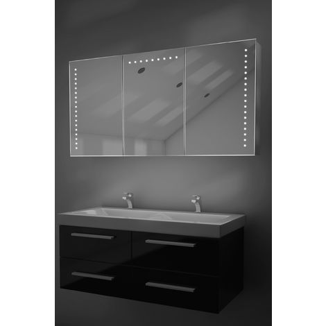 Malva LED Bathroom Cabinet with Demister Pad, Sensor & Shaver k375