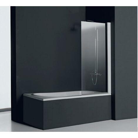Mampara ABATIBLE Bañera - Acabado: Blanco - Medida: 80 cm.