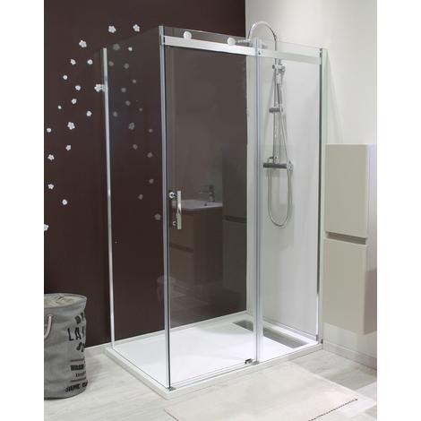 MAMPARA ALICO Corredera 120 transparente Dimensiones : 120x195 cm - Aqua +