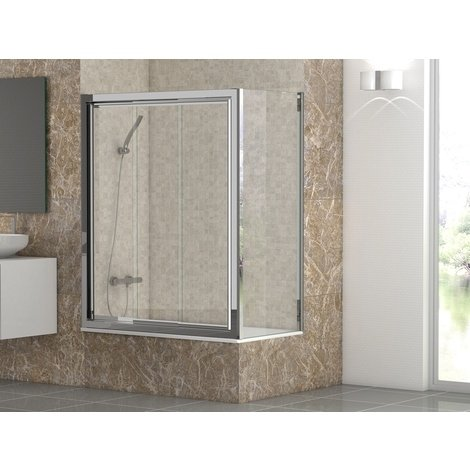 Mampara Baño BURGOS2 Frontal 3 puertas correderas Vidrio 4 mm