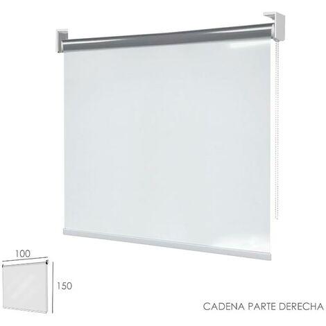 "main image of ""Mampara cortina enrollable pvc transparente, medidas 100 x 150 cm. cadena lado derecho"""